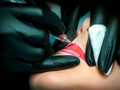 lip tint tattoo